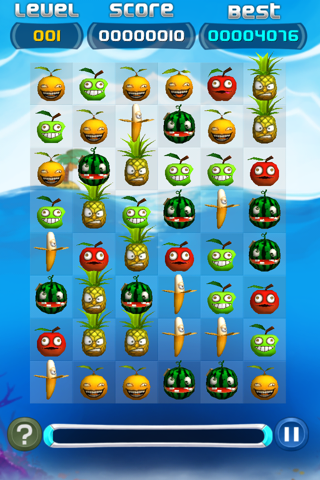 Screenshot Yummy Fruit Jewels Free